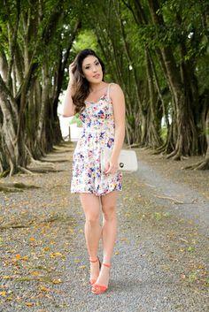 look do dia, vestido floral