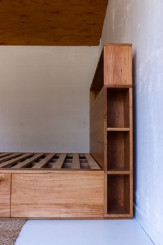 Ultimate storage solution - our custom Bookshelf Drawer Bed features 6 drawers in the platform base and a bookshelf bedhead. Handmade from solid locally sourced Australian hardwood. Bed Headboard Storage, Diy Bedframe With Storage, Bed Frame With Storage, Diy Bed Frame, Headboards For Beds, Bed Storage, Custom Bed Frame, Extra Storage, Bunk Beds