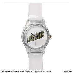 #Lawn #Bowls Dimensional Logo, White May Wrist #Watch.