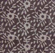 Yards Indian Block Print Brownish Grey Color Fabric, Wood Printed 100% Cotton Soft Fabric, Dabu Print Mud Resist Hand Printed Fabric HPS#255 by handprintedshop on Etsy