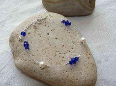 Freshwater Pearl & Crystal Wire Bracelet