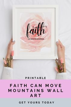 Faith can move mountains wall art that you can easily purchase. Instant access to your files. Digital Wall, Digital Prints, Christian Wall Decor, New Media Art, Instant Access, Move Mountains, Custom Items, Printable Wall Art, Etsy Store
