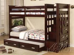 fun stairs :) Google Image Result for http://casterset.info/images/Twin-Size-Bunk-Bed-Trundle-Drawers-Espresso-Finish.jpg