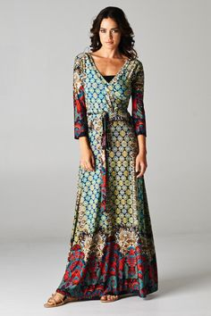 Piper Street:  A fashionable and affordable online boutique...boho print surplus maxi
