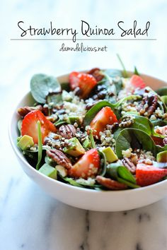 Strawberry Quinoa Salad damn delicious