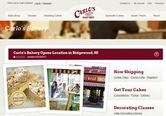 carlo bakery website layout inspiring cakes