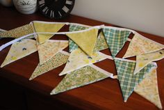 A personal favorite from my Etsy shop https://www.etsy.com/listing/232774515/up-cycled-boho-bunting-multi-colored