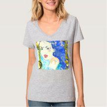 Shop Starfish Mermaid T-Shirt created by fairychamber. Siren Design, Mermaid Artwork, Siren Mermaid, Wardrobe Staples, Neck T Shirt, Fitness Models, Female, Casual, Clothing
