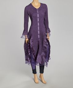Look at this #zulilyfind! Purple Duster - Women & Plus by Jerry T Fashion #zulilyfinds
