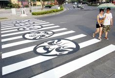 Zebra Crossing Highlights Art Forms Street Mural, Street Graffiti, Street Art, London Street, New York Street, Pedestrian Crossing, Roads And Streets, Zebra Crossing, Tokyo Streets