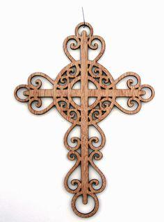 Items similar to Laser Cut Cross on Etsy Laser Art, 3d Laser, Wooden Crosses, Wall Crosses, Metal Art, Wood Art, Laser Cutter Ideas, Sign Of The Cross, Scroll Saw Patterns