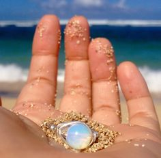 sterling silver opal ring gorgeous iridescent stone by LOphoto808