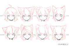 Manga Drawing Techniques How to Art Anime Neko, Art Anime, Drawing Base, Manga Drawing, Drawing Anime Bodies, Animal Drawings, Cool Drawings, Pencil Drawings, Drawing Animals