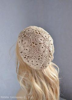 Lace cap Ukraine  https://www.etsy.com/listing/193876646/summer-beret-womens-hats-womens-summer
