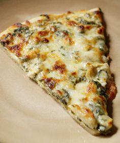 The Two Bite Club: Spinach Artichoke Alfredo Pizza