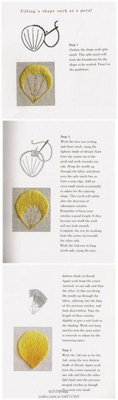 [Rustling] Tutorial needle embroidery needle length