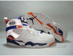 hot sales 5c6f2 9457a Air Jordan Retro 8 White Blue Vente En Ligne, Price   68.00 - Adidas Shoes,Adidas  Nmd,Superstar,Originals