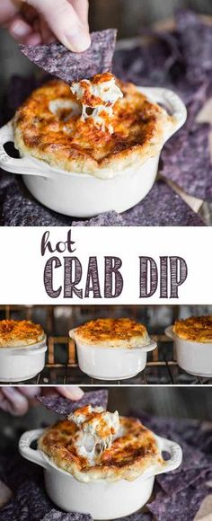 Hot Crab Dip is a crowd pleasing baked appetizer full of real crab, marinated artichokes, and rich and decadent cheeses. You won't find a better crab dip recipe if you're looking for something that is easy to make, is hot and bubbly, and will be the talk of the town. #crabdip #crabdiprecipe #hotcrabdip #crabartichokedip #appetizer #recipe