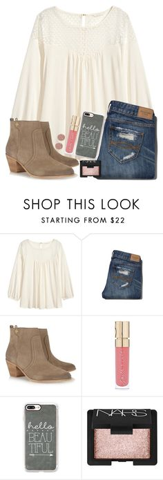 """I wore something kind of like this today"" by jojo2056 ❤ liked on Polyvore featuring H&M, Abercrombie & Fitch, Tory Burch, Smith & Cult, Casetify, NARS Cosmetics and River Island"