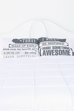 Inspirational pillow cases! Today I Will Pillowcase - Set Of 2