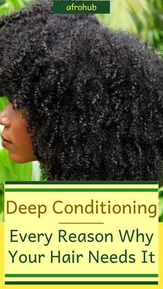 Deep conditioning is a big part of natural hair care and should be one of the pillars of your natural hair routine/natural hair regimen. This is because of the many exceptional and essential benefits you can only get from deep conditioning. Check out what you could potentially get in return for a simple deep conditioning mask/treatment. #deepconditioning #naturalhairroutine #naturalhaircare.