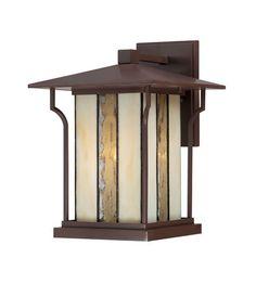 Quoizel Lighting Langston 1 Light Outdoor Wall Lantern in Chocolate Bronze LNG8409CHB #lightingnewyork #lny #lighting