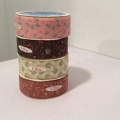 Vintage Ribbon  4 Rolls Craft Ribbon  Offray by MyVintagePoint