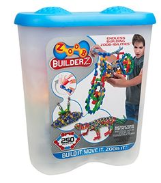 250 colorful ZOOB Pieces, expandable and compatible with all other ZOOB sets Create the ZOOBasuraus or a ZOOBcycle Represents STEM (Science, Technology, Engineering, and Math) principles, open ended toys to construct, engineer, explorer and experiment