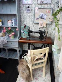 Modern Miniature Sewing Room