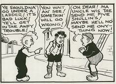 Nottingham Cartoonist Dudley Watkins - illustrated for DC Thomson magazines (Dandy, Beano etc) Calvin Und Hobbes, Calvin And Hobbes Comics, Scottish Accent, Classic Comics, Bad Timing, Political Cartoons, Make You Smile, Comic Strips, Childhood Memories