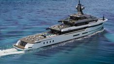 The Italian design studio Hot Lab Yacht & Design teamed up with the Italian shipyard VSY - Viareggio Superyachts for the Hot Lab Explorer. Yacht Design, Explorer Yacht, Expedition Yachts, Private Jet, Luxury Yachts, Armored Vehicles, Catamaran, Exterior Design, Transportation