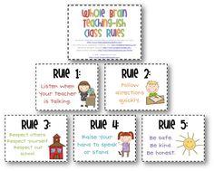 Whole Brain Teaching-ish Rules :)