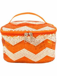 Orange Sequined Chevron Case