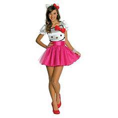 Teen+Girl+Halloween+Costumes | Hello Kitty Halloween Costume for teen girls