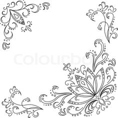 Stock vector ✓ 11 M images ✓ High quality images for web & print | Abstract pattern: leaves, stalks and lotus flowers. Contours