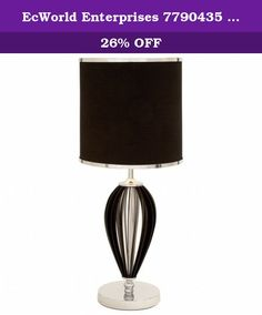 EcWorld Enterprises 7790435 Casa Cortes Essex Loft 30 In. Table Lamp    Black U0026 Silver