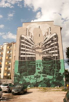 M-City mural in Gdynia, Poland