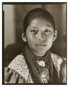 Elizabeth - Apache Girl - by Gary Auerbach, Native American Portraits. Native Child, Native American Children, Native American Beauty, Native American Photos, Native American Tribes, American Indian Art, Native American History, American Symbols, First Nations
