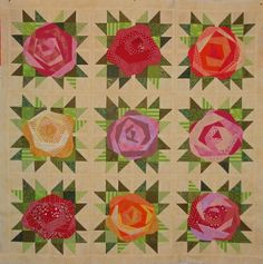 Jersey Girl quilt with rose block