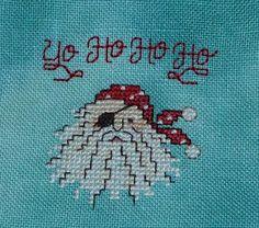 Sue Hillis Santa Pirate Cross stitch freebie