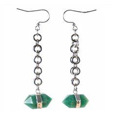Tiana Jewel - Goddess Green Quartz Earrings ($68) ❤ liked on Polyvore featuring jewelry, earrings, heart-shaped jewelry, circle jewelry, heart jewelry, cream jewelry and heart shaped earrings