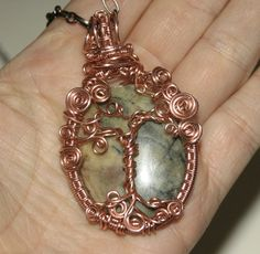 Tree of Life Woven Wire Wrapped Copper and Gemstone Tree by groovychickjewelry, $59.00