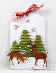 Fir Trees and Deer Tag