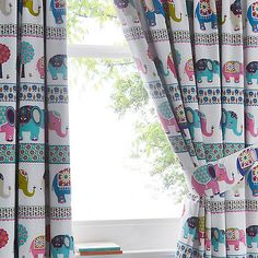 Butterfly Home by Matthew Williamson White elephant parade curtains- | Debenhams
