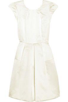 Miu Miu Pleated silk-faille dress | THE OUTNET