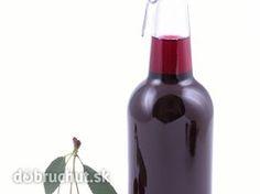 Čerešňový sirup Hot Sauce Bottles, Red Wine, Alcoholic Drinks, Food And Drink, Glass, Med, Syrup, Drinkware, Corning Glass