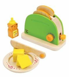 Amazon.com: Hape - Playfully Delicious - Pop-Up Toaster - Play Set: Toys & Games Wolfe asked for a pretend toaster