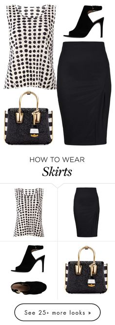"""Black Skirt"" by dazzling-dazed-dayz on Polyvore featuring Tory Burch, MCM and Pleats Please by Issey Miyake"