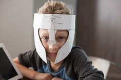 Activities, Ideas, Travel, Movies & Technology for Kids - All for the Boys - Crafteeo - DIY Cardboard Warrior Helmets
