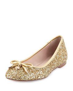 Kate spade glittery gold ballet flat - MARJORIE